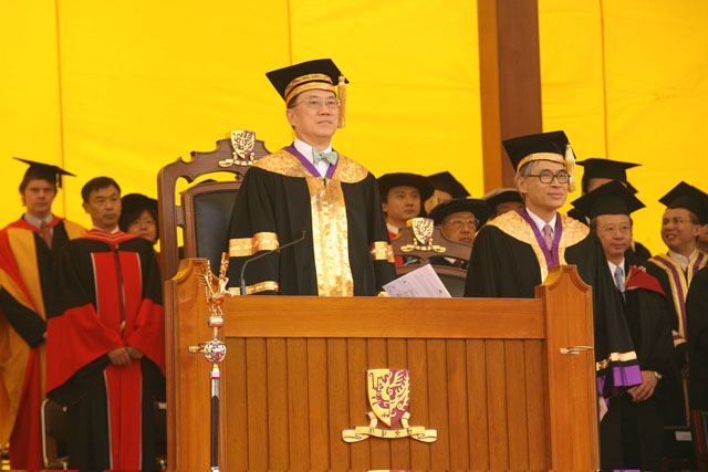The 64th Congregation<br><br>Mr. Donald Tsang, Chancellor of the University, presides at the congregation