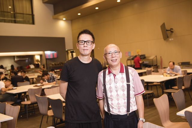 Mr. Timmy Tsang (right) and Mr. Johnny Liu (left)