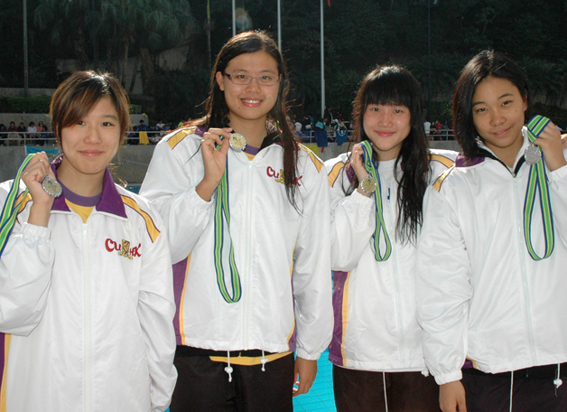 The CUHK Women's Team was the first runner-up in an intervarsity aquatic meet in October 2010.