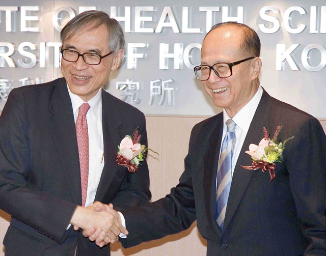 Opening of Li Ka Shing Institute of Health Sciences<br><br>Mr. Li Ka Shing officiates at the opening ceremony