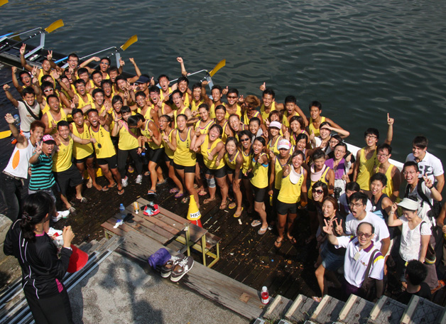The CUHK Men's Rowing Team won the Universities Rowing Championship for the ninth consecutive year in August 2010.