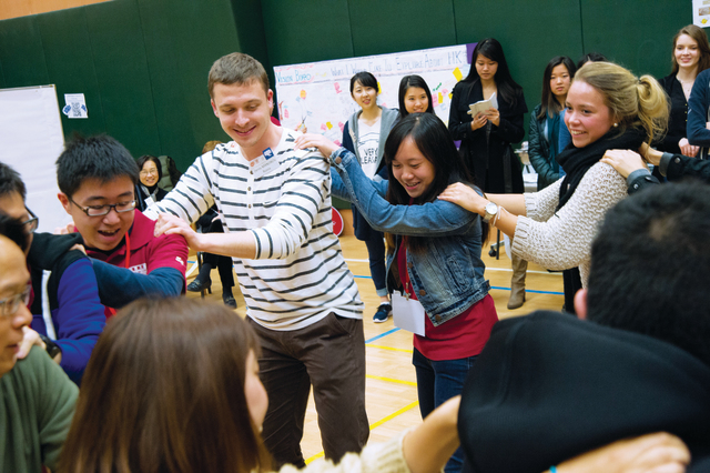 Over 70 local Shaw Buddies and incoming exchange students from over 10 countries get to know each other in the 'Cultural Integration Meet-up' event. (Photo provided by Shaw College)