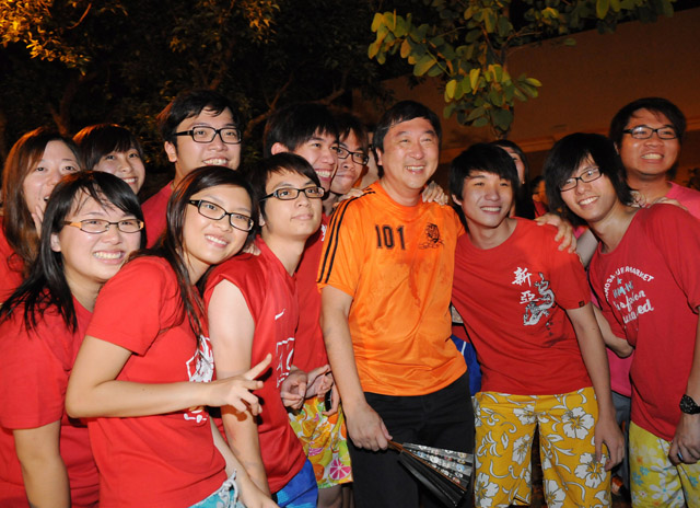 World Cup Fever at the University Mall<br><br>A flicker of orange in a sea of red