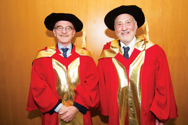 Prof. Randy W. Schekman (left) Prof. Joseph E. Stiglitz (right)