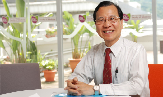 Professor Fung Kwok-pui, convener of the Faculty of Medicine's Energy Conservation Committee and former Head of United College (2002-2012)
