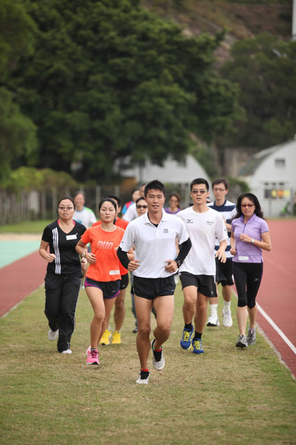 The University Golden Jubilee Marathon Team<br><br>Over 1,800 CUHK staff, students, alumni and friends joined the University Golden Jubilee Marathon Team to take part in the Standard Chartered Hong Kong Marathon held in February.