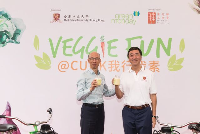 Mr. Wong Kam-sing (left) and Prof. Joseph J.Y. Sung (right)