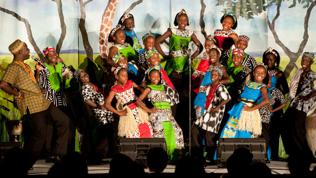 The Watoto Children's Choir, consisting of children orphaned by AIDS or the war in Uganda, re-visited the Chinese University and sang at Ho Sin Hang Hall, S.H. Ho College, on 29 February 2012.