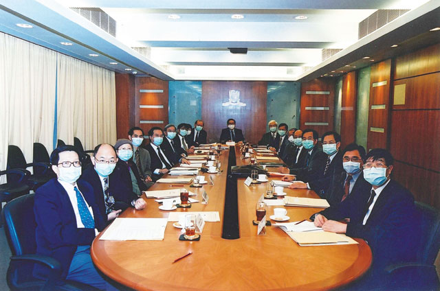 Business as usual for Administrative and Planning Committee during SARS, 2003 <em>(Courtesy of Mr. Terrence Chan)</em>
