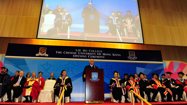S.H. Ho College officially opened on 28 October 2011. The plaque-unveiling ceremony for the four main buildings of the College was also held.