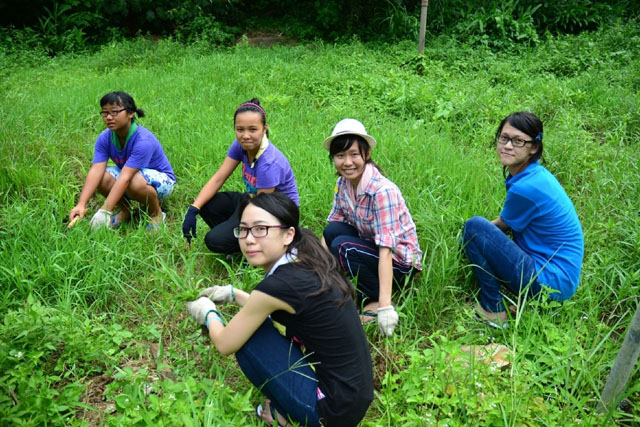 CUHK I‧CARE Programme─Christian Zheng Sheng College Service Project<br><br>CUHK students participating in various manual work on Zheng Sheng campus