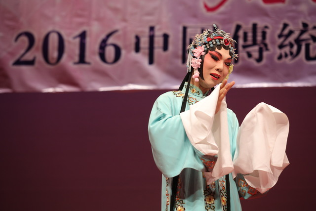 Student of the course perform in the 'Cha Zi Yan Hong—Traditional Chinese Operatic Arts Promotion Tour'