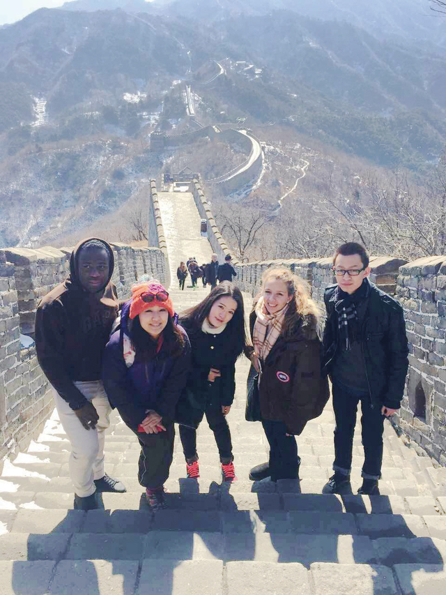 Visit to the Great Wall during exchange study at Peking University for the former Contemporary China Studies programme